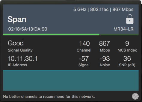 wifisignal data rate